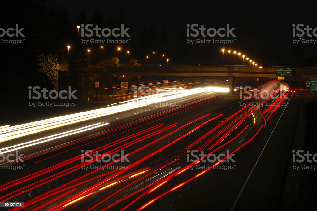 Interstate 5 At Night royalty-free stock photo