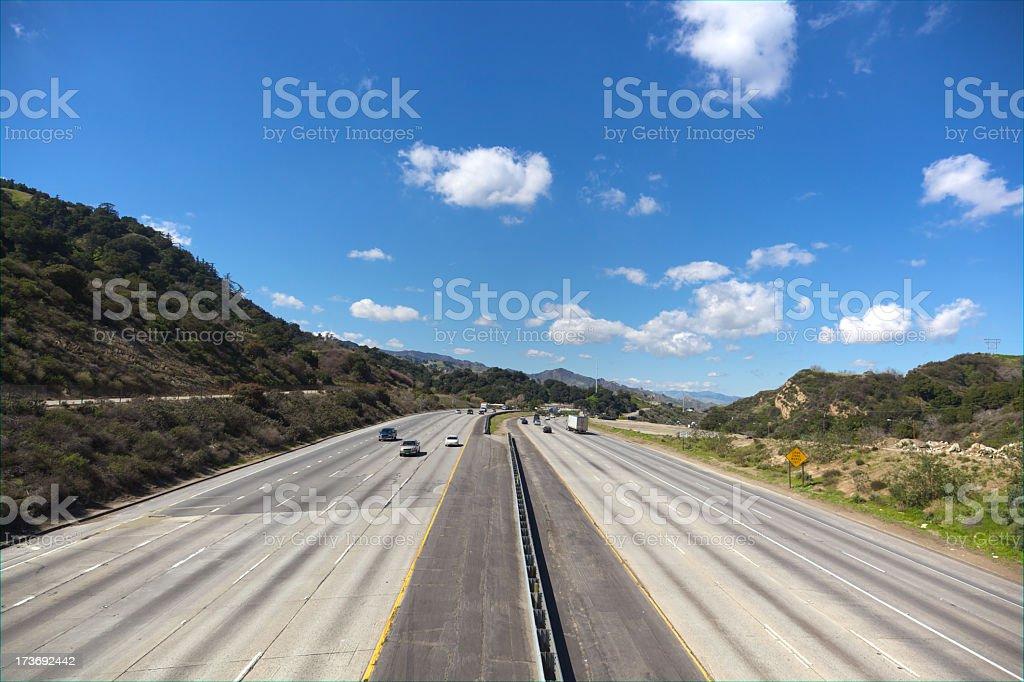 Interstate 5 North of LA stock photo