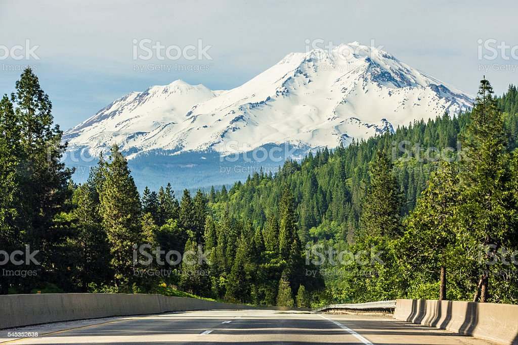 Interstate 5 Northern California stock photo