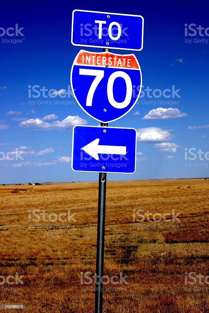 Interstate 70 sign. royalty-free stock photo