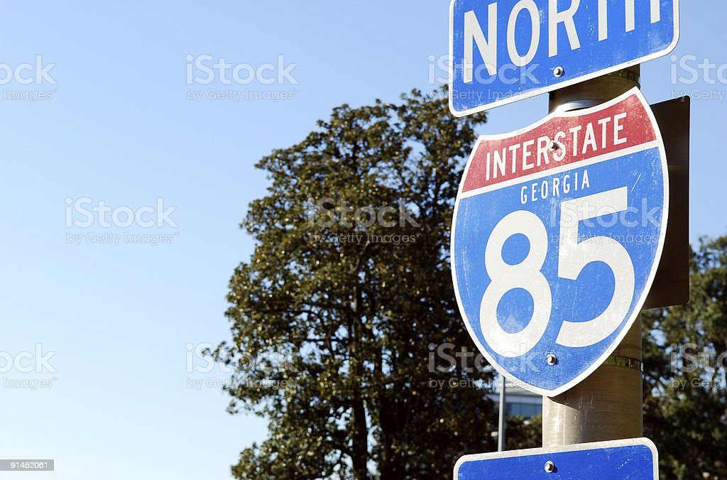 Interstate 85 royalty-free stock photo