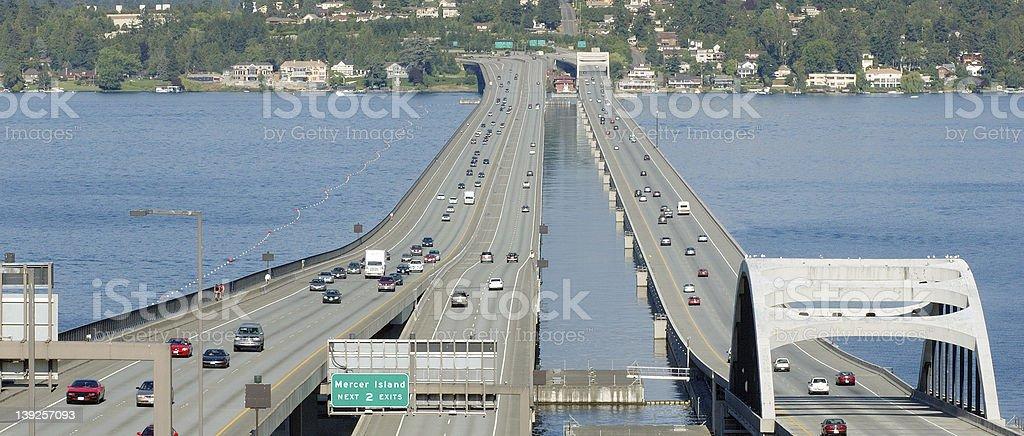 Interstate 90 Floating Bridge royalty-free stock photo