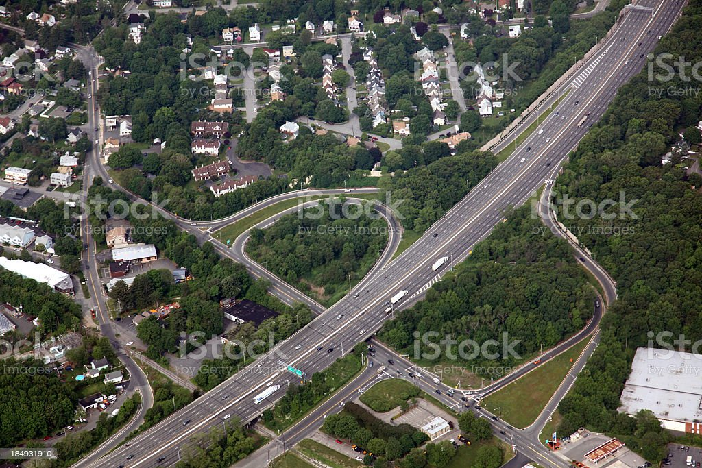 Interstate Aerial royalty-free stock photo