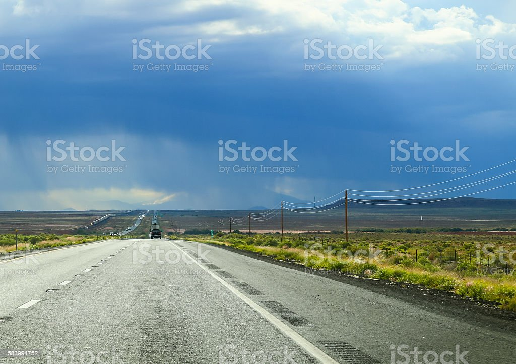 Interstate and Railroad stock photo