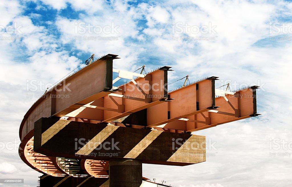 Interstate  Bridge  Construction stock photo