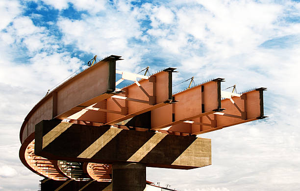 Interstate  Bridge  Construction Big I is the name of the freeway interchange where Interstate 25 (I-25) and I-40 intersect northeast of downtown Albuquerque, New Mexico, United States. elevated road stock pictures, royalty-free photos & images