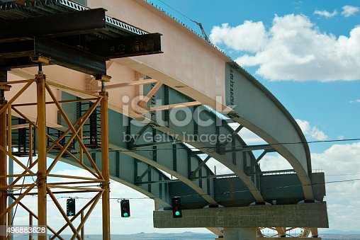 istock Interstate Bridge  Construction 496883628