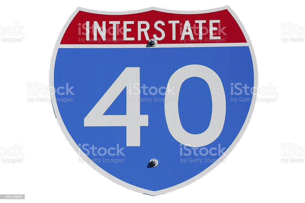 Interstate I-40 sign royalty-free stock photo