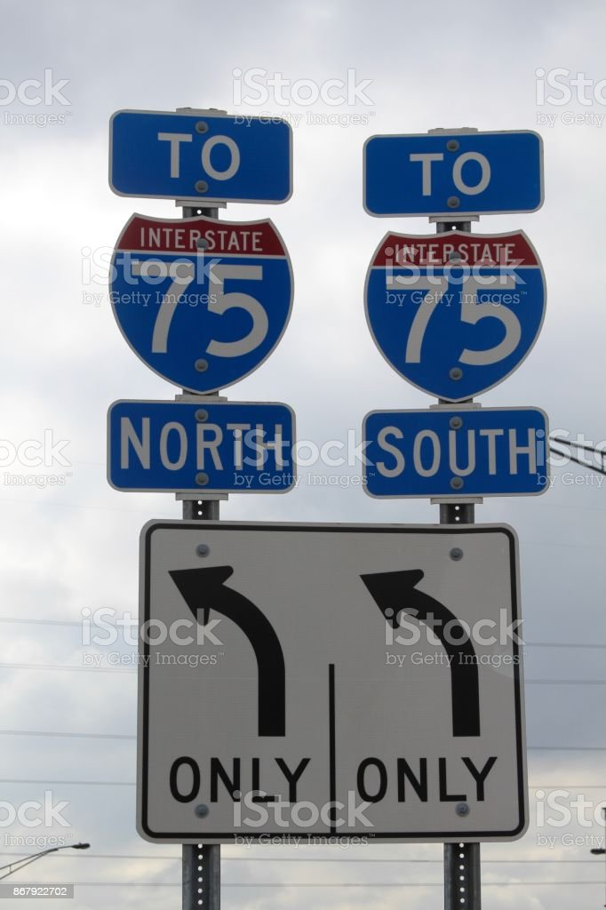 Interstate Road Signs stock photo