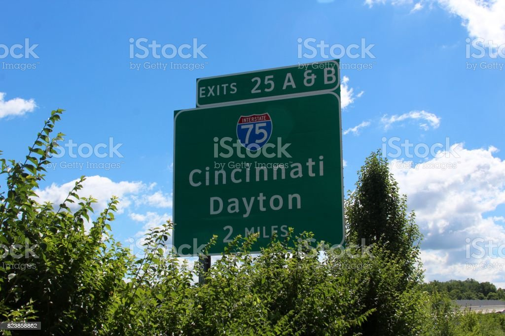 Interstate Sign stock photo