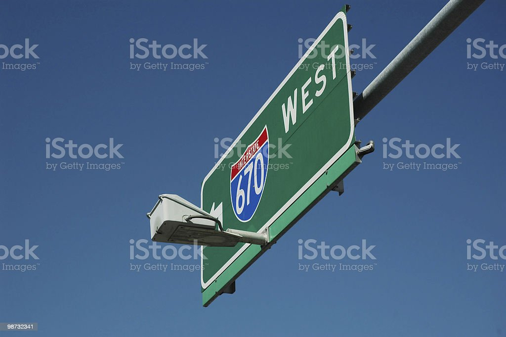 interstate sign royalty free stockfoto