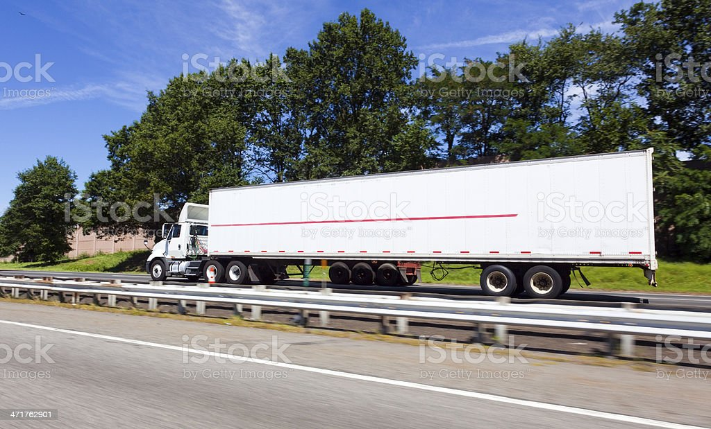 Interstate Trucking royalty-free stock photo