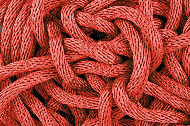 Ineinander verschlungen Seil – Foto