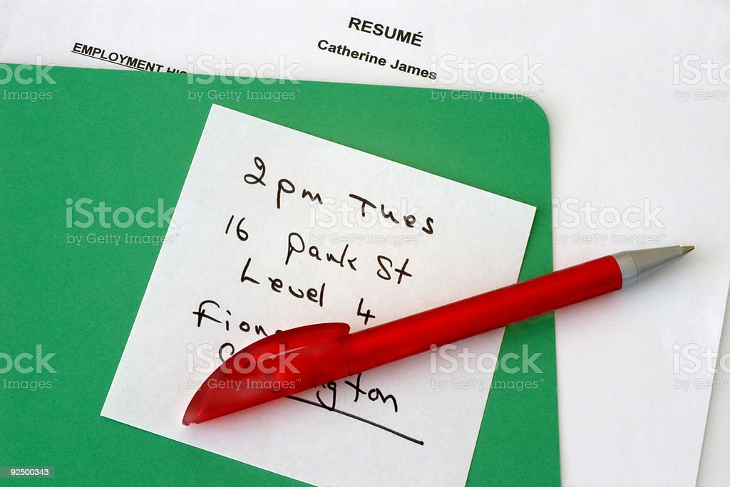 Interview Appointment royalty-free stock photo