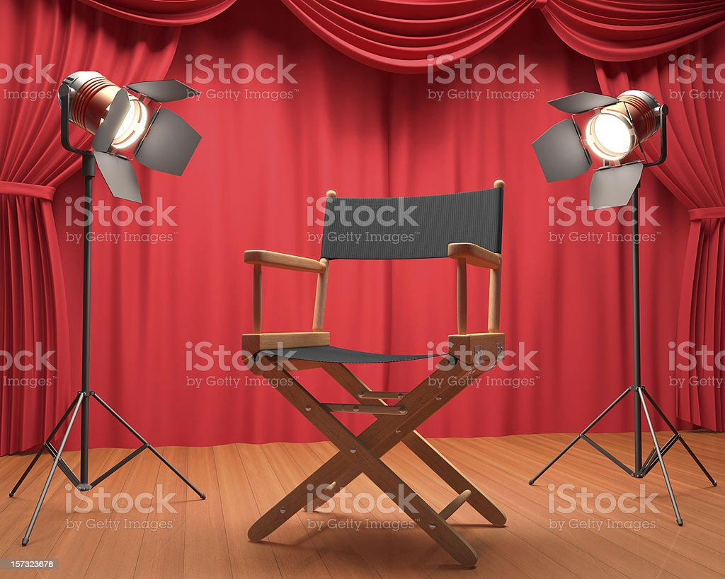 Interview Film stock photo
