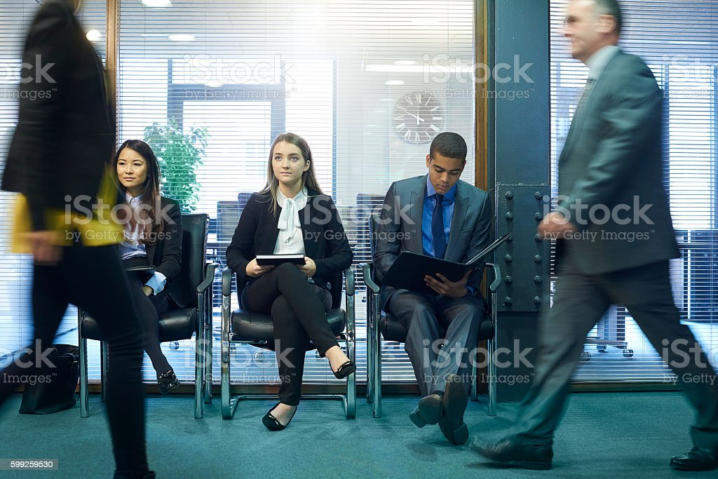 interview nerves stock photo