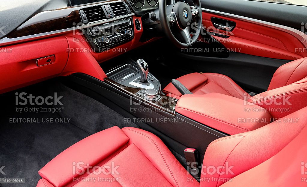 Interview of a BMW 4 Series M Sports car stock photo