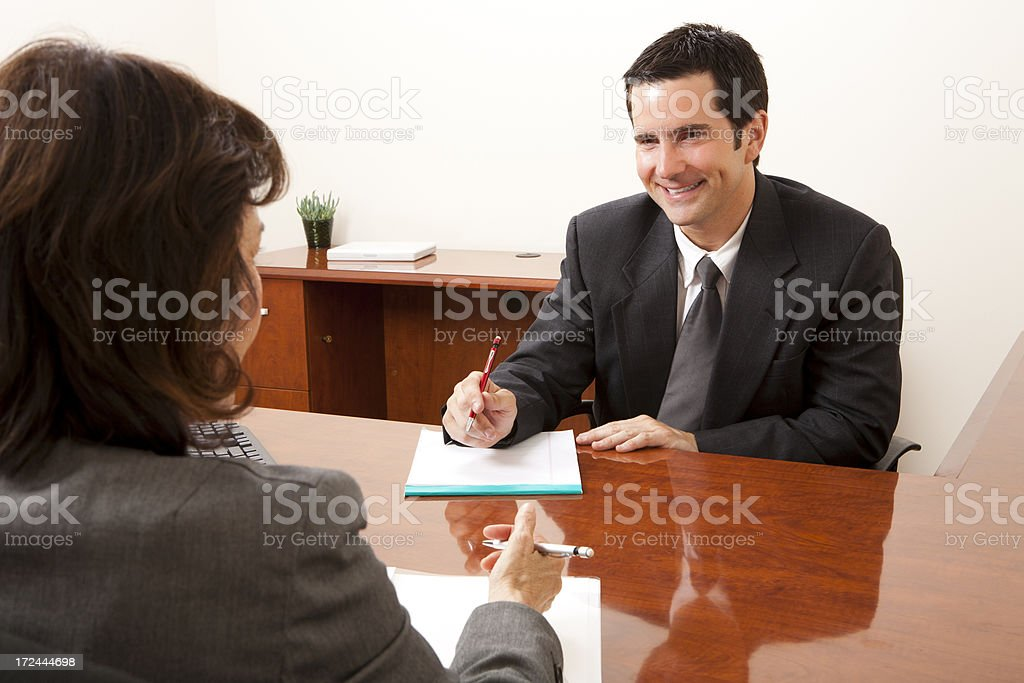 Interview royalty-free stock photo