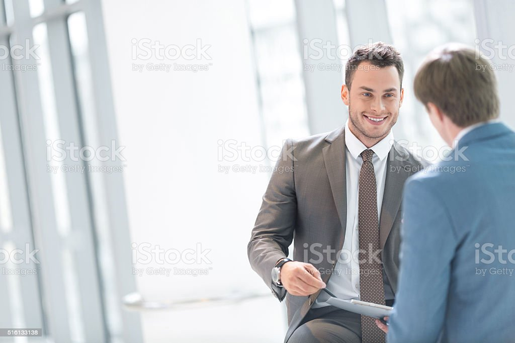Interview stock photo