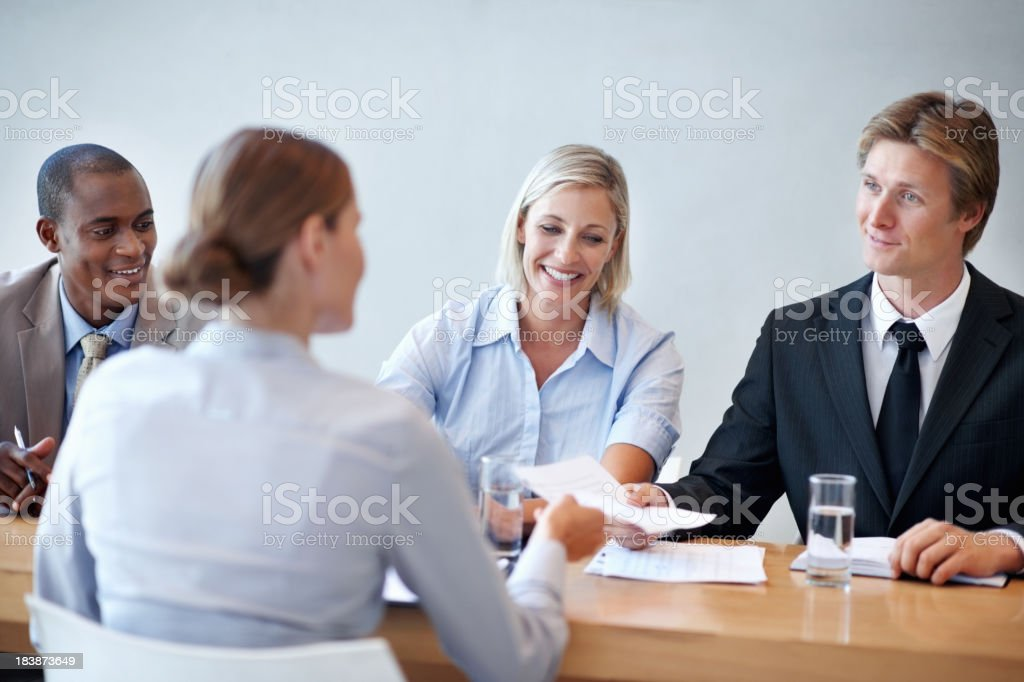 Interview process royalty-free stock photo