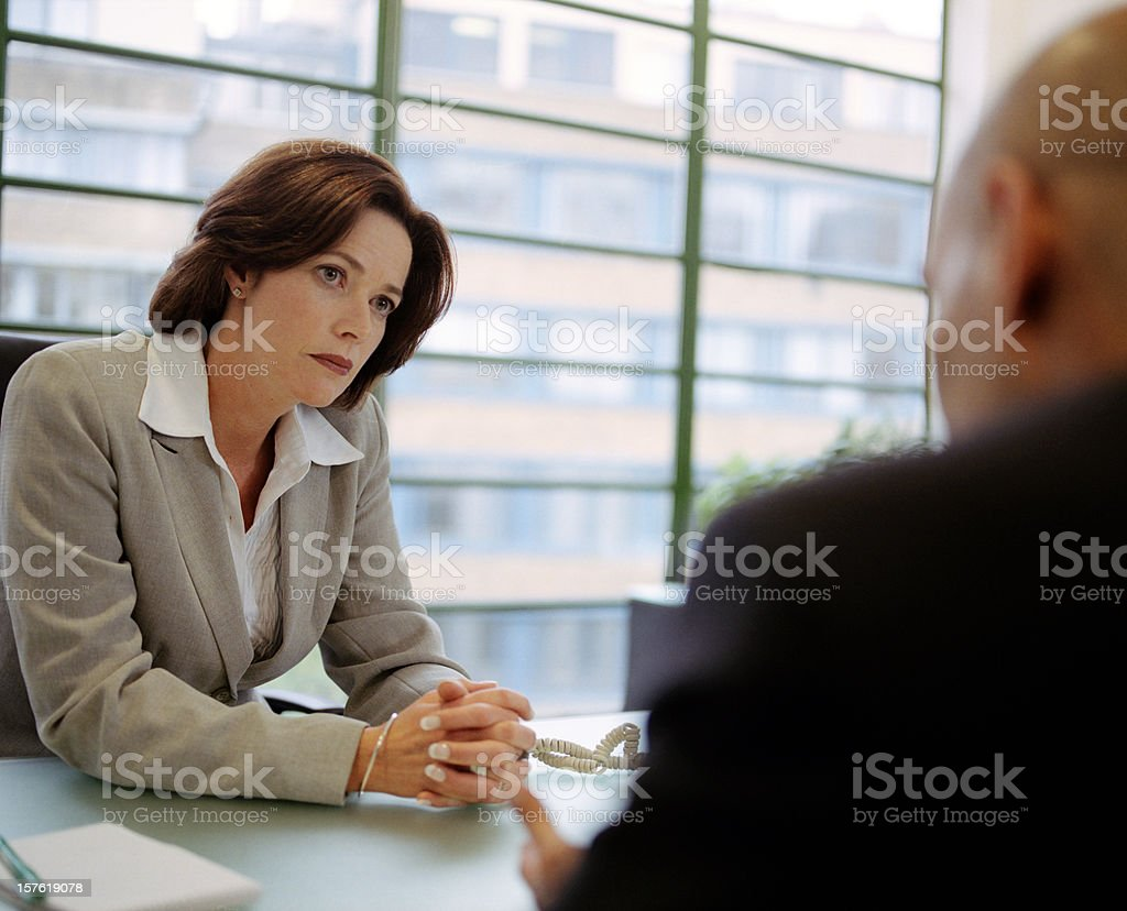 Interview Time royalty-free stock photo