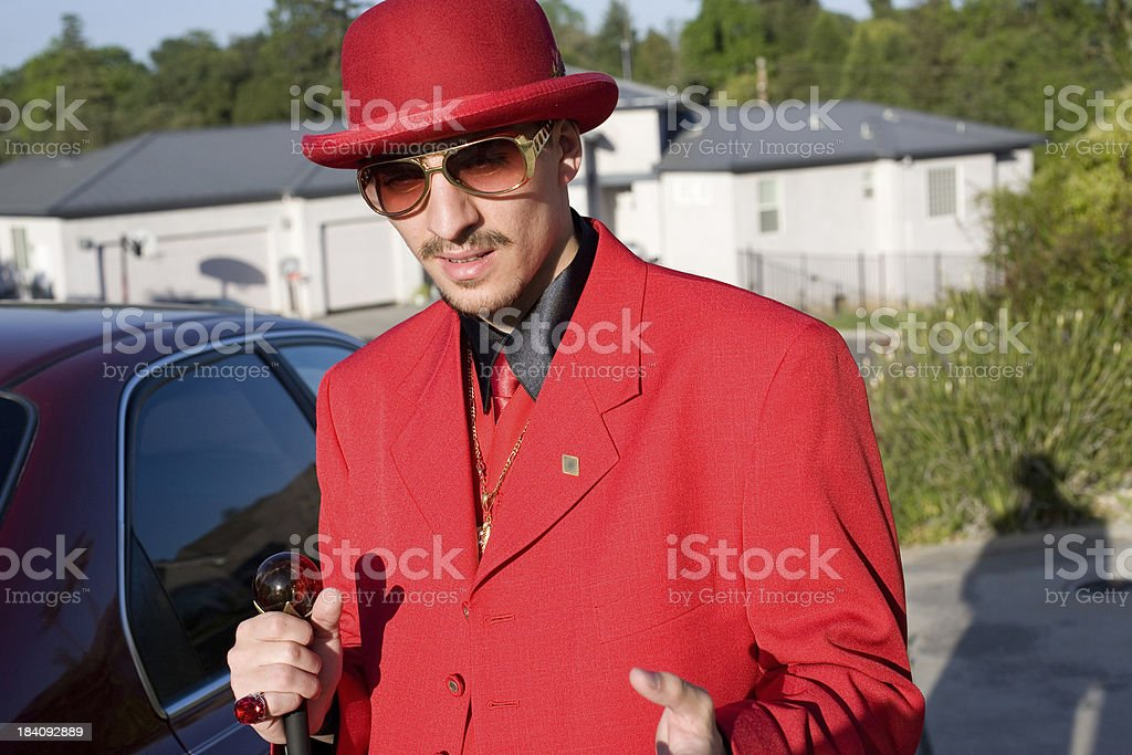 Interview with a pimp stock photo