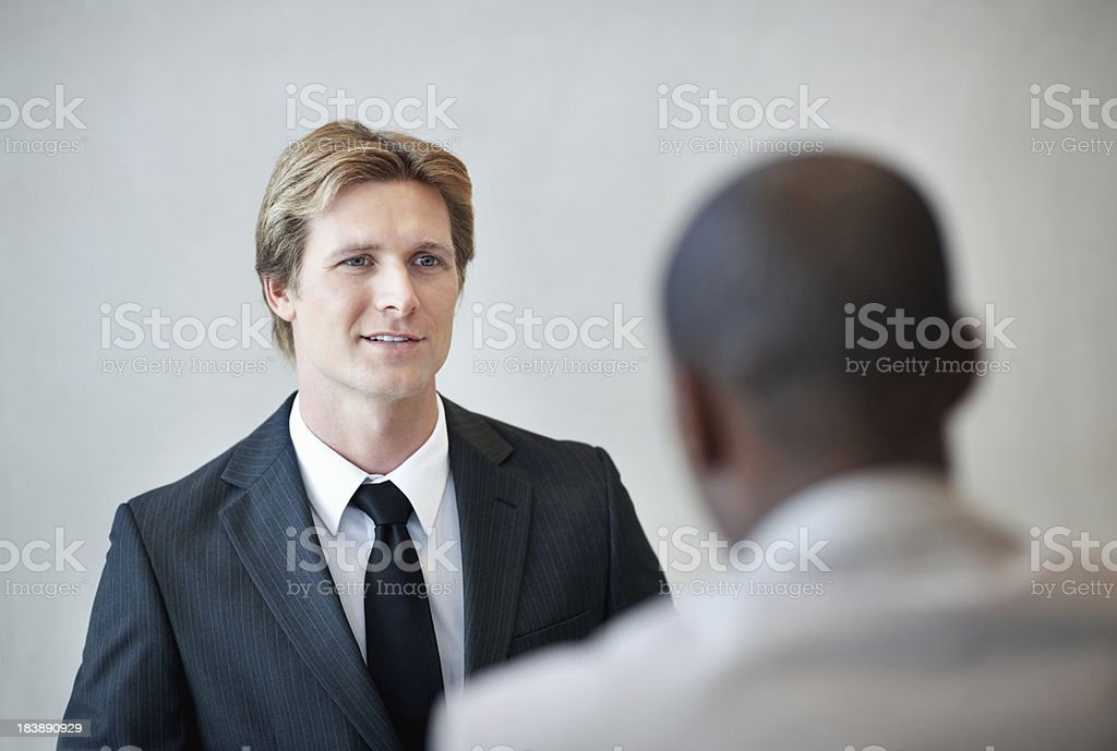 Interviewee smiling royalty-free stock photo