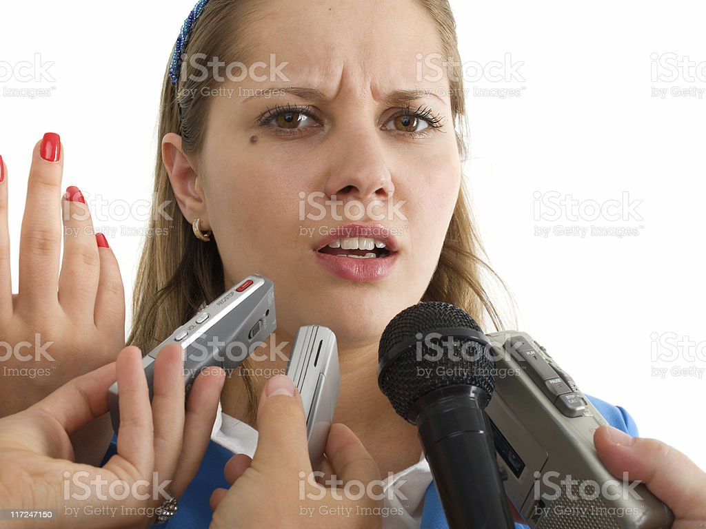 Interviewing royalty-free stock photo