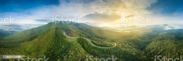 Photo of Inthanon Highest Mountain of Thailand Landmark Nature Travel Places of Chiangmai Panorama Aerial View