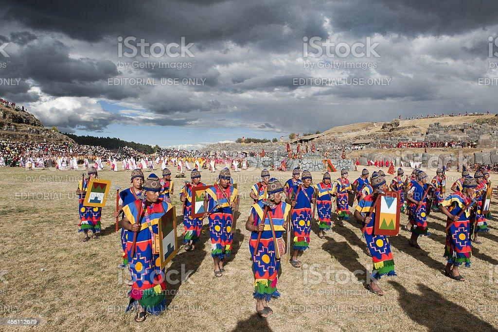 Inti Raymi at Cusco stock photo