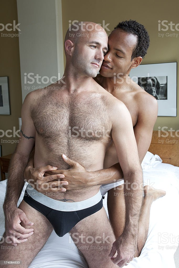Intimate Gay Couple stock photo