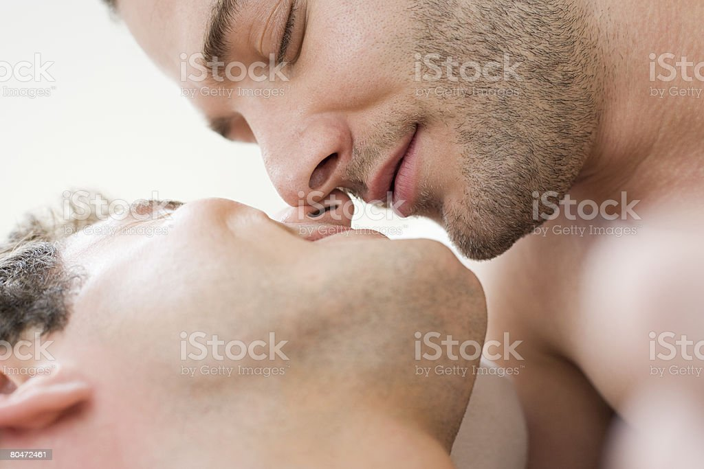 Intimate gay couple royalty-free stock photo
