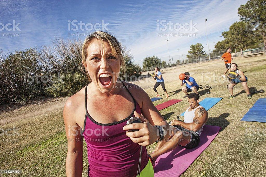 Einschüchternd Fitness-Trainer – Foto