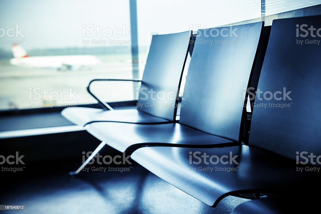 Into airport royalty-free stock photo