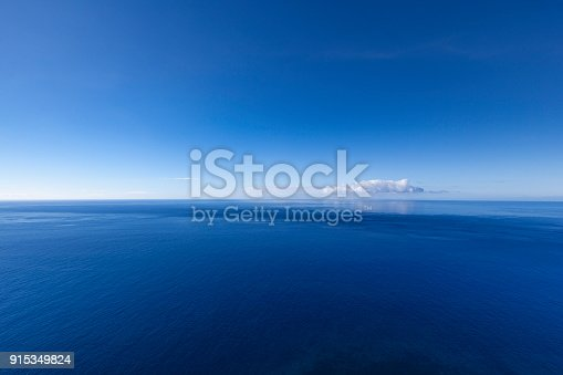 beautiful ocean seascape at the atlantic ocean, seen from madeira island in portugal.
