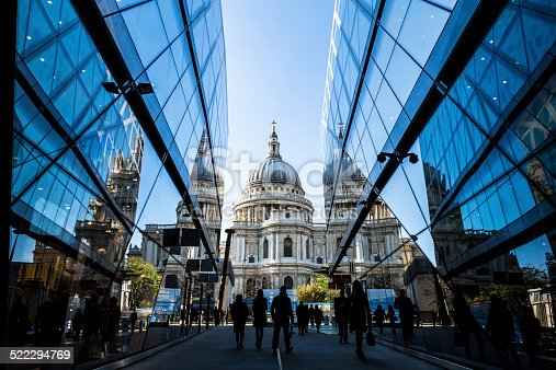 View of St Paul's Cathedral from the One New Change retail area.