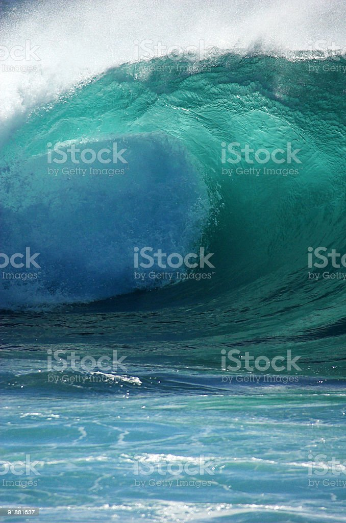 Into The Blue stock photo