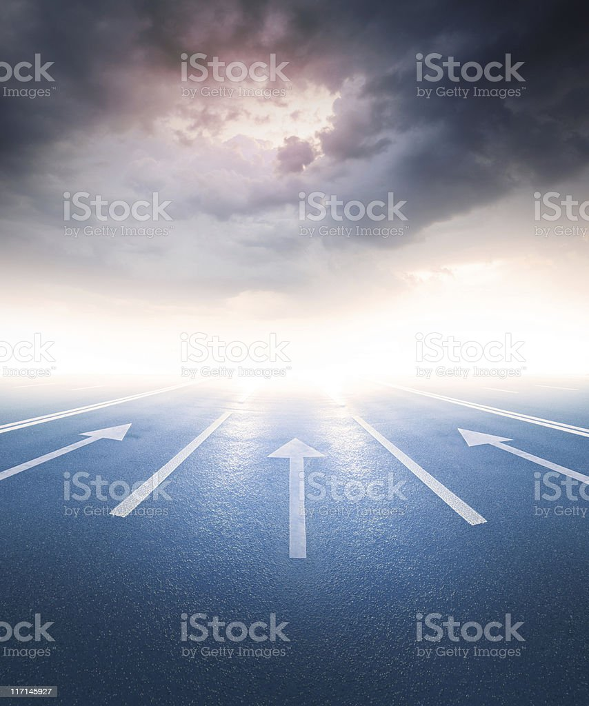 Into the bright future? stock photo