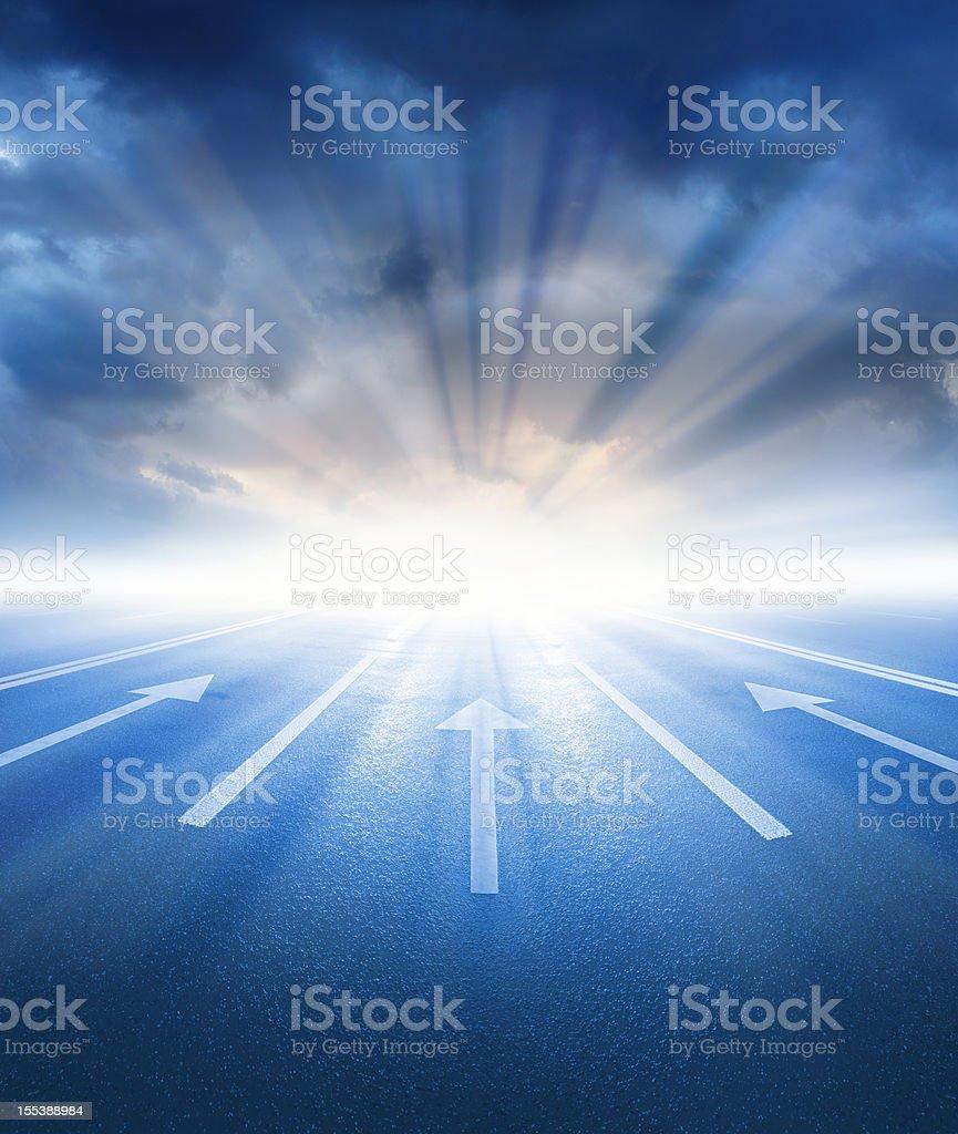 Into the bright future royalty-free stock photo
