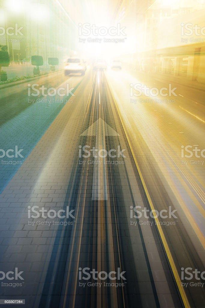 Into the bright future stock photo