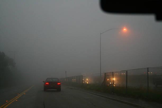 Into the Fog stock photo