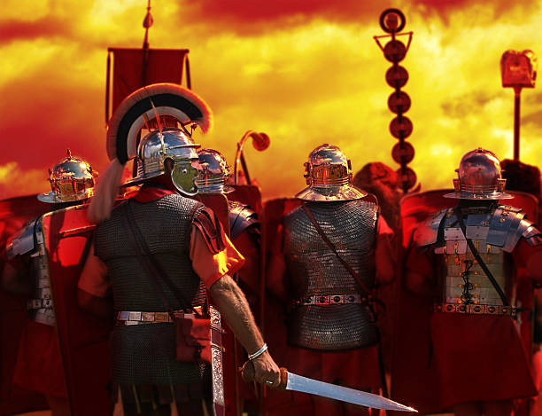 into the heat of battle, from my roman army series - roman stock photos and pictures