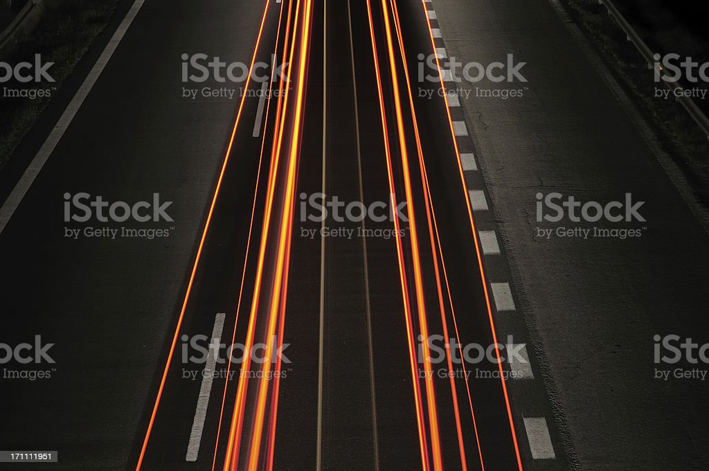 Into the night royalty-free stock photo