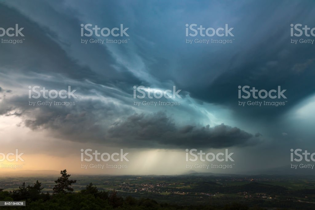 Into the storm stock photo