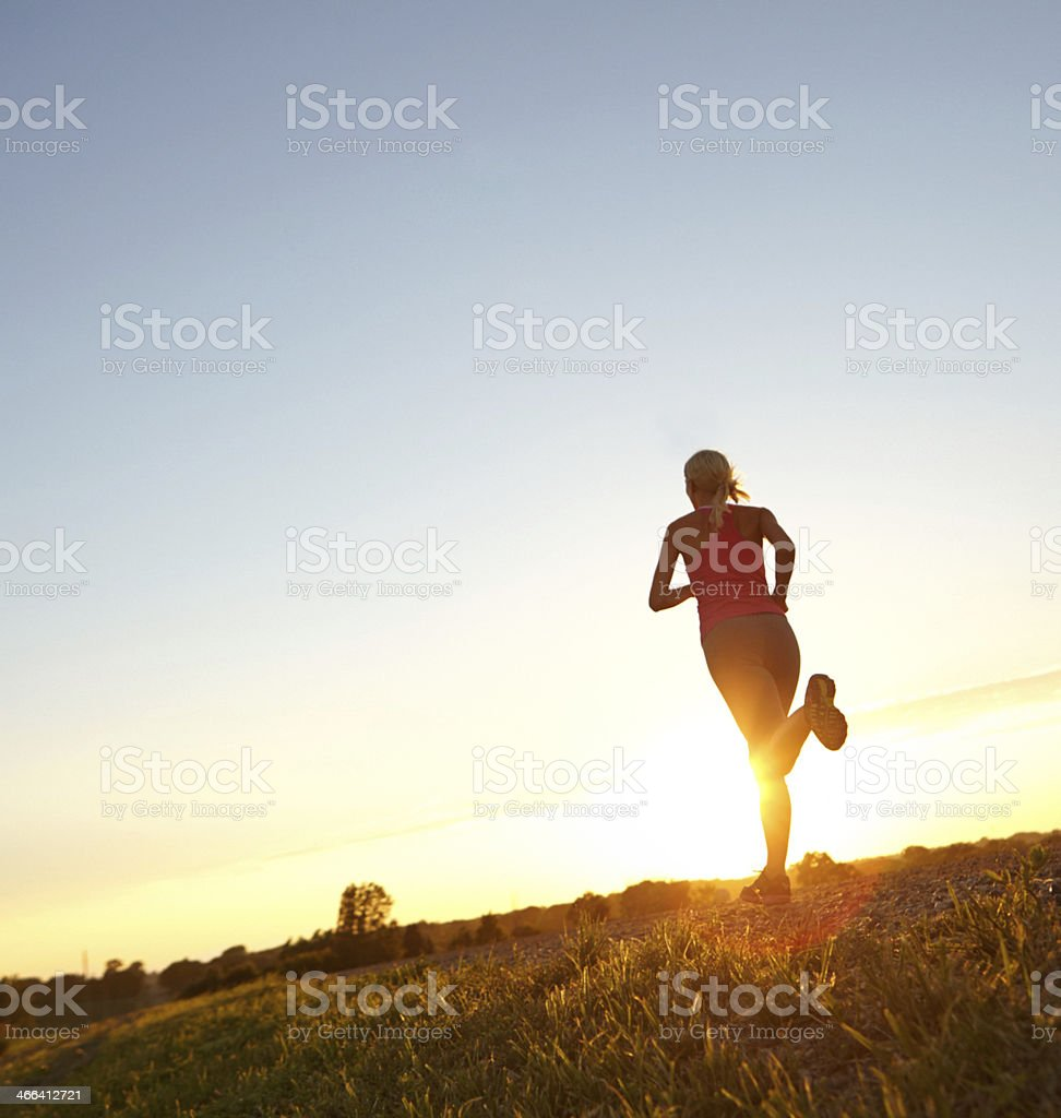 Into the sunset stock photo