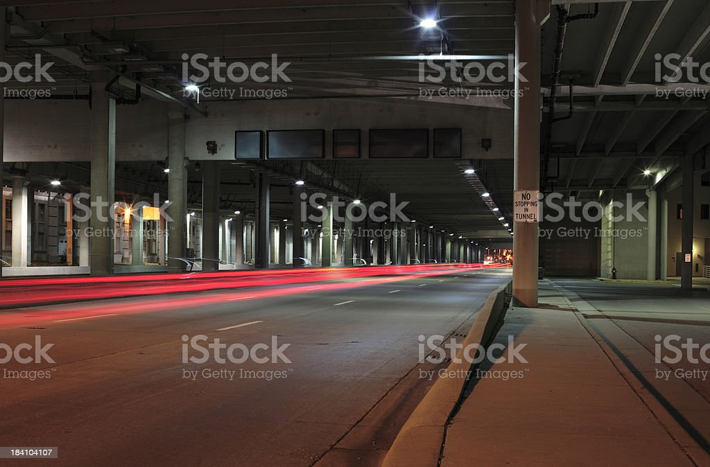 Into the tunnel royalty-free stock photo