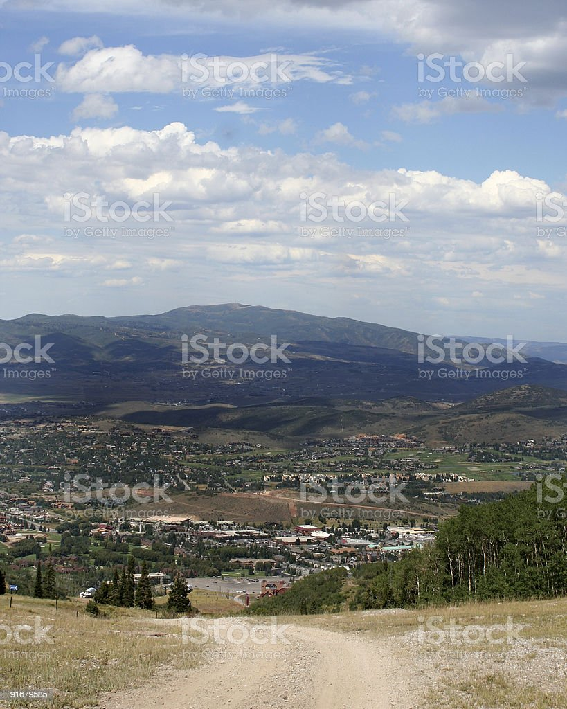 Into the Valley royalty-free stock photo