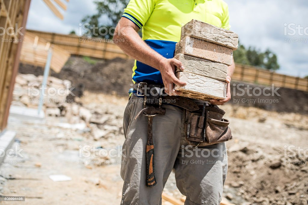 Intolerable conditions for work! stock photo
