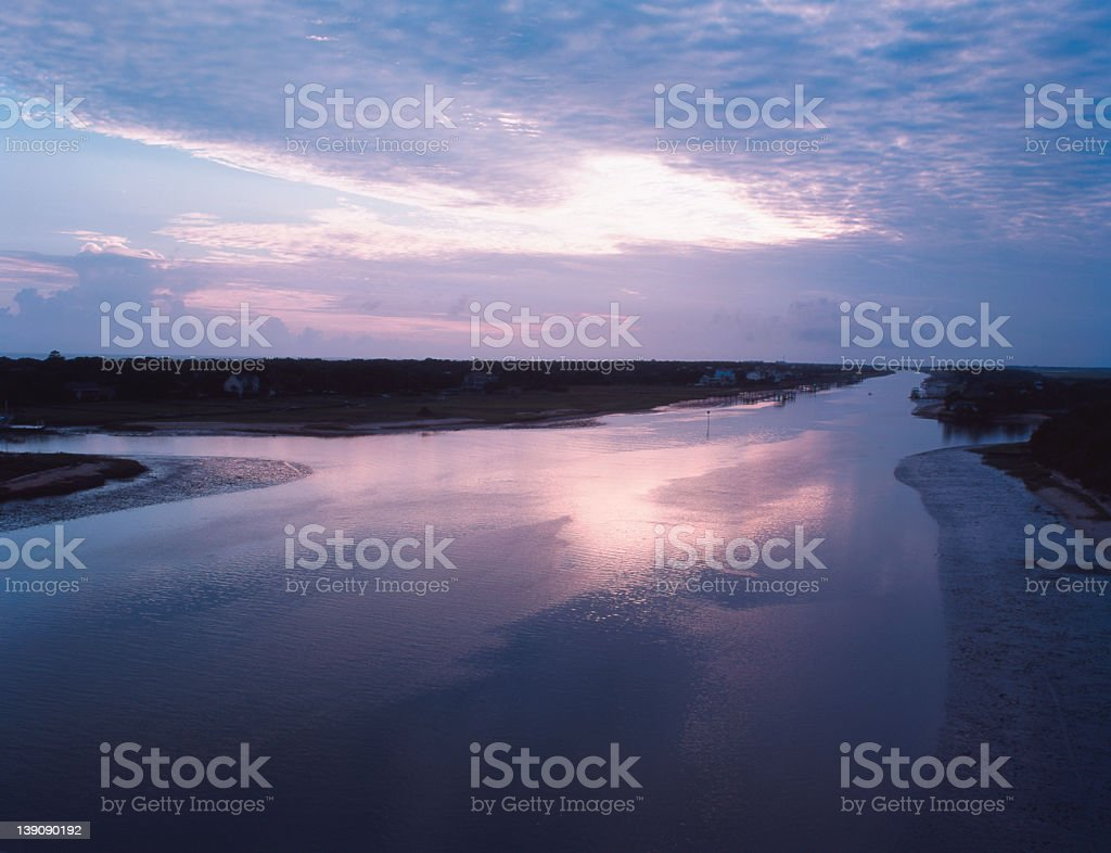 IntraCoastal Waterway royalty-free stock photo