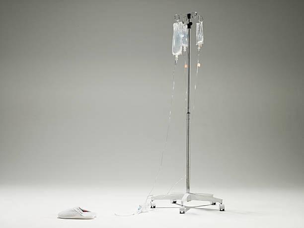 intravenous drip and slippers - hospital studio bildbanksfoton och bilder
